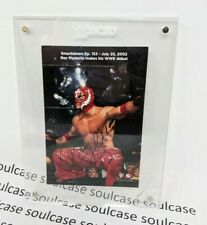 WWE 2K20 Rey Mysterio Limited Collector's Edition Autographed Plaque Auto d2