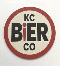 (12) Kc Bier Co Coaster, Kansas City, Missouri New Unused 1 Dozen Craft Beer