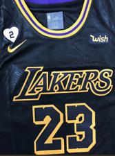 Lebron James LA Lakers #23 Stitched Mens Jersey Black Mamba Edition S-2XL
