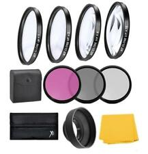 55mm Lens Close up & Filter Kit For Panasonic Lumix DMC-FZ70 / FZ72