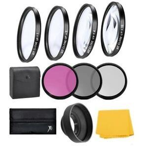 55mm Lens Close up & Filter Kit For Sony Cyber-shot DSC-HX400 DSC-H400 DSC-HX300
