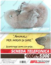 SCHEDA TELEFONICA - TELECOM Animali per modo di dire - ORSO - Lire 5.000