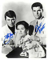 JAMES DARREN LEE MERIWETHER COLBERT SIGNED 8x10 PHOTO TIME TUNNEL BECKETT BAS