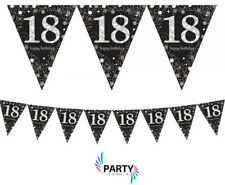 18th Birthday Party Supplies Sparkling PENNANT BANNER 13 Ft Wide