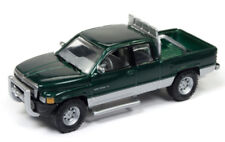 1/64 JOHNNY LIGHTNING 1996 Dodge Ram 1500 in Forest Green Metallic & Silver