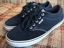 Vans Mens Size 10.5 (UK 9.5) EU 44 Black Leather Sneakers VN-OKC4BA2-Men