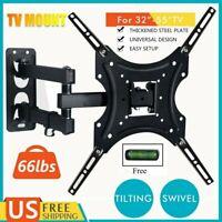 Full Motion TV Wall Mount Swivel Bracket Tilt 26 32 40 42 47 50 55 inch LED LCD