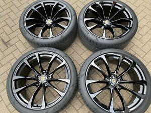 "23"" LAMBORGHINI URUS taigete gloss black alloy wheels pirelli tyres genuine OEM"