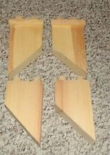 Lot of 4 wooden Slanted Chimney 1/12 scale  dollhouse miniature