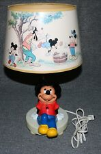 Disney 1981 Mickey Mouse Lamp Solo Pluto