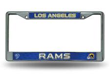 Los Angeles Rams Custom Retro Chrome LBL Metal License Plate Tag Frame Cover