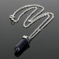 Crystal Quartz Healing Point Chakra Natural Gem Stone Bead Pendant For Necklace