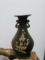 Old Chinese SONG Dynasty  Black Pattern Double-Ear Porcelain Vase