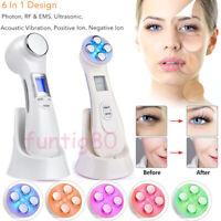 Mesotherapy Electroporation RF LED Photon Face Skin Rejuvenation Remover Wrinkle