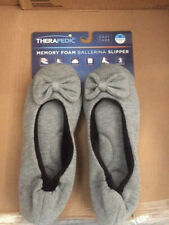 761454f0a Women's Therapedic Slip On Knit / Ballet Slippers - Size Medium 7 - 8 - Gray