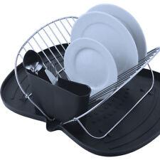 Escurreplatos plegable con bandeja de Plástico negro / MSV