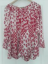 Ladies summer Top 3/4 sleeves by Fig Size 10 / Small NEW