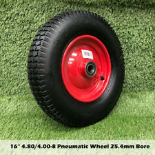 "25.4MM Bore 16"" 4.8/4.00-8 Wheelbarrow Wheel Cart Trolley Barrow wheels Tyres"