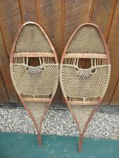 """BEAUTIFUL OLD Huron Indian Snowshoes 36"""" Long by 13"""" Wide"""