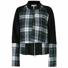 SUNO $1,095 double layered quilted green plaid coat AW13 wool bell jacket sz 10