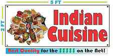 Full Color INDIAN CUISINE Banner Sign NEW Larger Size Delivery Restaurant Buffet