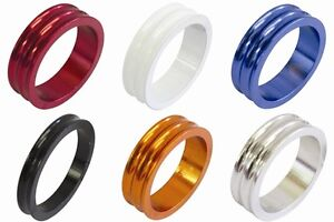 "One23 Alloy 1 1/8"" Bike Headset Spacer Size & Colour Choice Concave Finish"