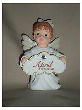 BIRTHSTONE ANGEL FIGURINE - APRIL - DIAMOND  - JEANE'S THINGS