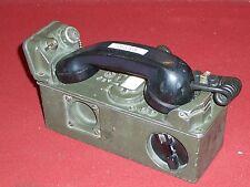 U S ARMY MILITARY SURPLUS TA-43 PT W/ TA-312 KIT SIGNAL CORPS FIELD PHONE RADIO