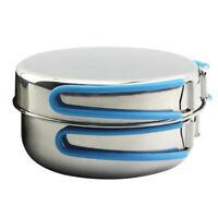 Portable Outdoor Cooking 9Pcs Set Camping Hiking Cookware Picnic Pot Pan Mug