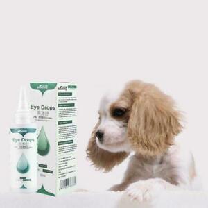 60ml Pet Eye Care Drops Dog Cat Eye Tear Stain Removing Bactericidal Dirt Q0F2