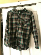Boys Vans Brown / Green Collared Shirt Size L