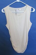 NEW WITH TAGS WOMEN'S STUDIO M CREAM/IVORY RUCHED SIDE SEXY TANK TOP SIZE SMALL