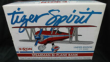"""Vintage"" Exxon Stearman Biplane Diecast Airplane Bank "" Mint In Box"""