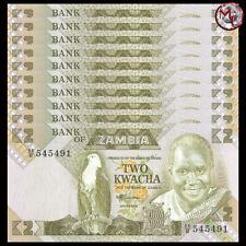 Zambia - 2 Kwacha 1986 - Pick 24c - Set 10 PCS - UNC