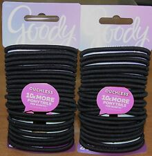 GOODY OUCHLESS PONYTAIL HAIR ELASTIC NO METAL 48 PCS. Black