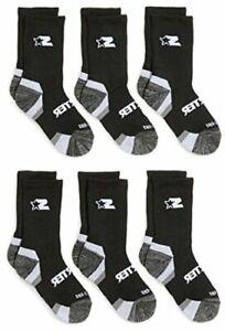 Starter Boys' 6-Pack Athletic Crew Socks,  Exclusive,, Black, Size 4.0 lGYv