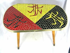 Beautiful 50´s Mid Century design mosaico tavolo grondaie side table 51 x 30 cm