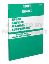 1981 gmc big truck shop manual supp c5000 c6000 c7000 astro brigadier  general
