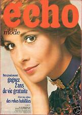 ▬► Echo de la Mode N° 43 de 1970 FRANÇOISE HARDY_LOUIS MERLIN