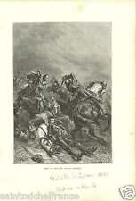 Bataille de Battle of Lutzen 1632 Gustavus Adolphus SWEDEN FRANCE GRAVURE 1874