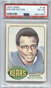 1976 Walter Payton Topps ROOKIE CARD Rc #148 Chicago Bears PSA 4 VG-EX
