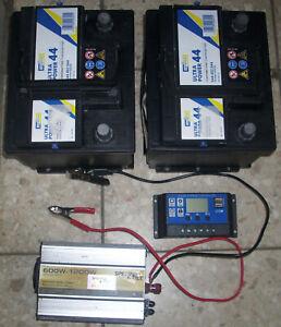 Solarladesystem 24 Volt, Batterie, Laderegler und Spannungswandler