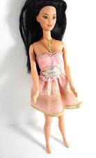 Barbie Doll Clothing Fashion Dress Gold Pink Evening Wear Shimmery Shinny Print
