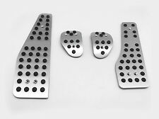 (4) Manual Aluminum Pedals Pads Covers For Porsche 911 996 987 986 LHD