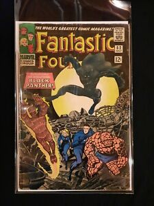 Silver Age Comic Fantastic Four #52, 1st Black Panther  Key Issue. Marvel 🔥 🔥