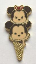 Disney Pin Badge HKDL - Tsum Tsum Ice Cream Cone Mickey and Minnie