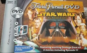 Star Wars Trivial Pursuit DVD Saga Edition with 2 DVDs, Metal Game Pieces