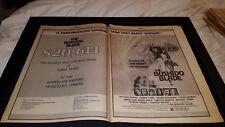 The Bushido Blade Rare Original 1980 Promo Poster Ad Framed!