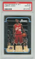 2003 Bowman Rookies & Stars LEBRON  JAMES Rookie RC #123 PSA 10 GEM MINT