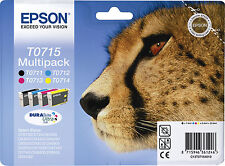 CARTUCCIA EPSON ORIGINALE T0715 MULTIPACK  GHEPARDO C13T07154012 **